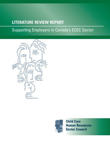 Literature Review - Child Care Human Resources Sector Council