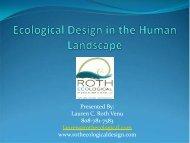 Ecological Design in the Human Landscape