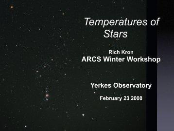 Temperatures of Stars