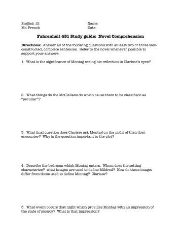 study guide questions for fahrenheit 451 essay If you're using 'fahrenheit 451' in your class, here's a study guide with review questions that will help your students feel confident about their.