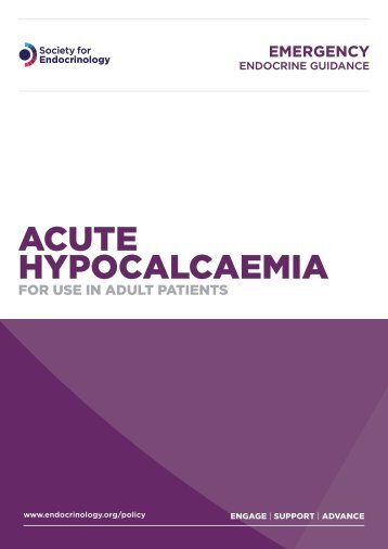 Acute hypocalcaemia - Society for Endocrinology