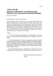 «Zürisee für alli» Kantonale Volksinitiative zur ... - Kanton Zürich