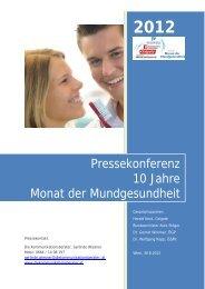 Pressekonferenz 10 Jahre Monat der Mundgesundheit - Colgate