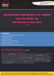 10D EXPLORE THE BEAUTY OF TURKEY with Ria 89.8fm djs Adi ...
