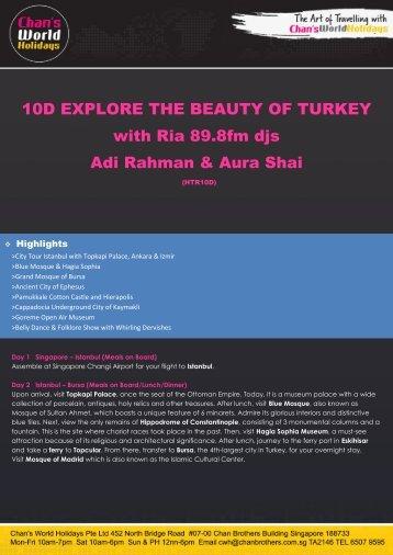 10D EXPLORE THE BEAUTY OF TURKEY with Ria 89.8fm djs Adi ...