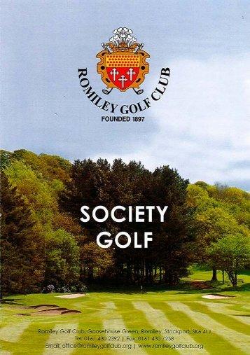 Societies Brochure - Romiley Golf Club