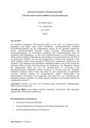 Katathym Imaginative Psychotherapie (KIP) - C. G. Jung Institut Zürich