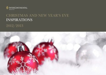 CHRISTMAS AND NEW YEAR'S EVE INSPIRATIONS 2012/2013