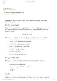 24. lecke: Az eloszlásfüggvény Elméleti összefoglaló Kidolgozott ...