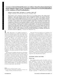A review of selected dental literature on evidence-based treatment ...