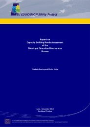 Report on Capacity Building Needs Assessment of the Municipal ...