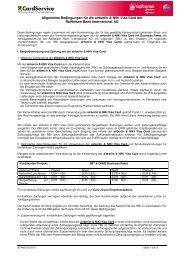 Bedingungen für die airberlin & NIKI Visa Card