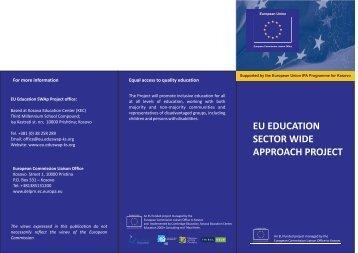 Project Leaflet - EU EDUCATION SWAp Project - Eduswap-ks.org