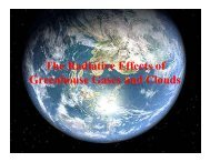 The Radiative Effects of Greenhouse Gases and Clouds
