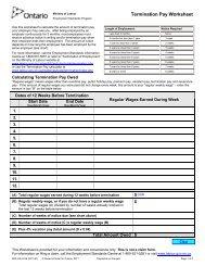 Termination Pay Worksheet