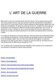L'art de la guerre par Sun Tzu - Lezarts.org