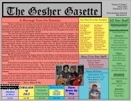 Issue 1 - July 5, 2013 - Gesher Summer Camp