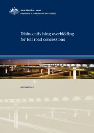 Disincentivising overbidding for toll road concessions