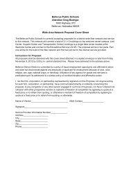 Bellevue Public Schools Attention Greg Boettger 1600 Highway 370 ...