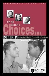 Physician Assistant Program - School of Health Related Professions