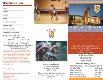 Summer Athletic and Arts Camps 2012 - Cardinal Ritter College Prep