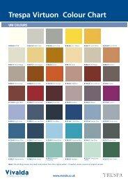 Trespa Virtuon Colour Chart - Vivalda