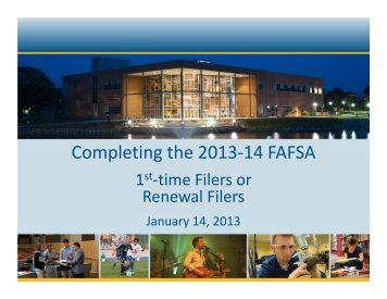 Completing the 2013-14 FAFSA