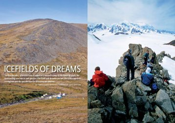 feature story on Kluane Lake Research Station - Fritz Mueller ...