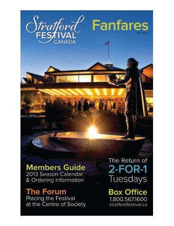 2013 Members Guide - Stratford Festival