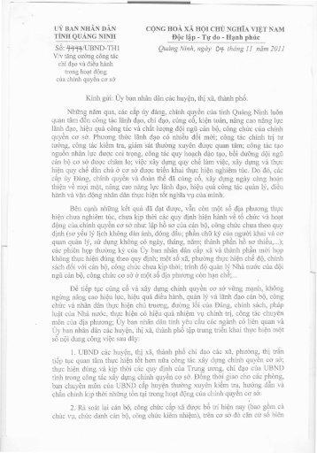 uỷ BAN NHÂN DÂN CỘNG HOÀ XÃ HỘI CHỦ NGHĨA ... - Quảng Ninh