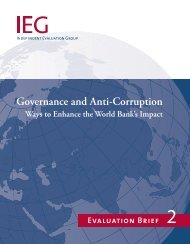 Governance and Anti-Corruption - World Bank