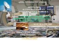 HELINA 2009 6è CONGRES AFRICAIN D'INFORMATIQUE ... - List