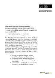 Gender zwischen Wissenschaft und Praxis. Ein Beitrag von Dipl.-Ing ...