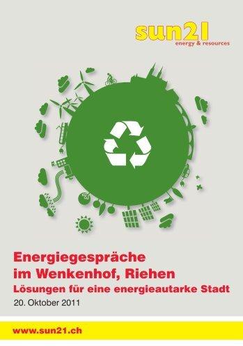 Energiegespräche im Wenkenhof, Riehen - Sun21