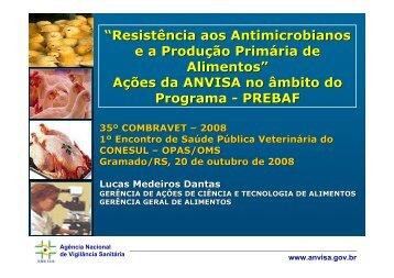 Resistência aos Antimicrobianos ea Produção Primária ... - SOVERGS