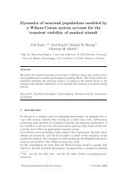 Dynamics of neuronal populations modeled by a Wilson-Cowan ...