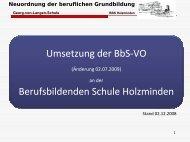 Neuordnung der beruflichen Grundbildung - BBS-Holzminden
