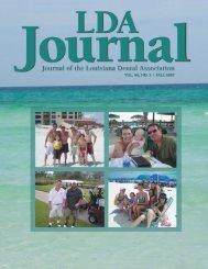 LDA Journal - Louisiana Dental Association