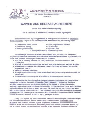 Separation, Waiver And Release Agreement - Howey-In-The-Hills