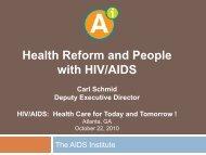 PDF of presentation - The AIDS Institute