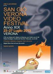 san giÒ Verona Video festiVal 2013