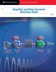 Amplifier and Data Converter Selection Guide