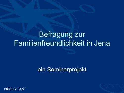 und Familienfreundlichkeit in Jena - Orbit-jena.de