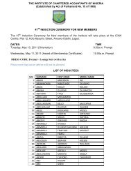 THE INSTITUTE OF CHARTERED ACOUNTANTS OF NIGERIA