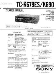 Sony TC-K690 at AllegroSound.com