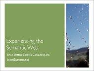 Experiencing the Semantic Web - Bosatsu Consulting