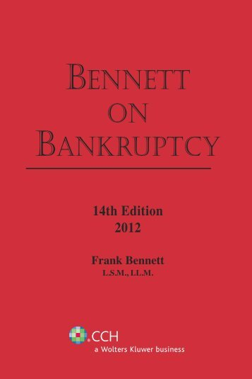 BENNETT ON BANKRUPTCY - CCH Canadian