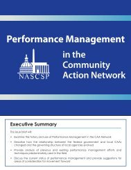 Performance Management in the Community Action ... - NASCSP