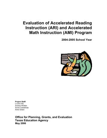 Evaluation of Accelerated Reading Instruction - TEA - Home School ...