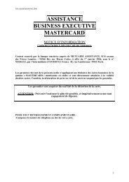 ASSISTANCE BUSINESS EXECUTIVE MASTERCARD - CIC